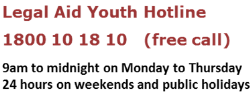 Legal Aid Youth Hotline