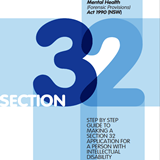 front page image of the The Step by Step Guide to making Section 32 (MHFPA Applications) booklet